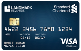 Standard Chartered Landmark Rewards-by-best credit-cards-in-india
